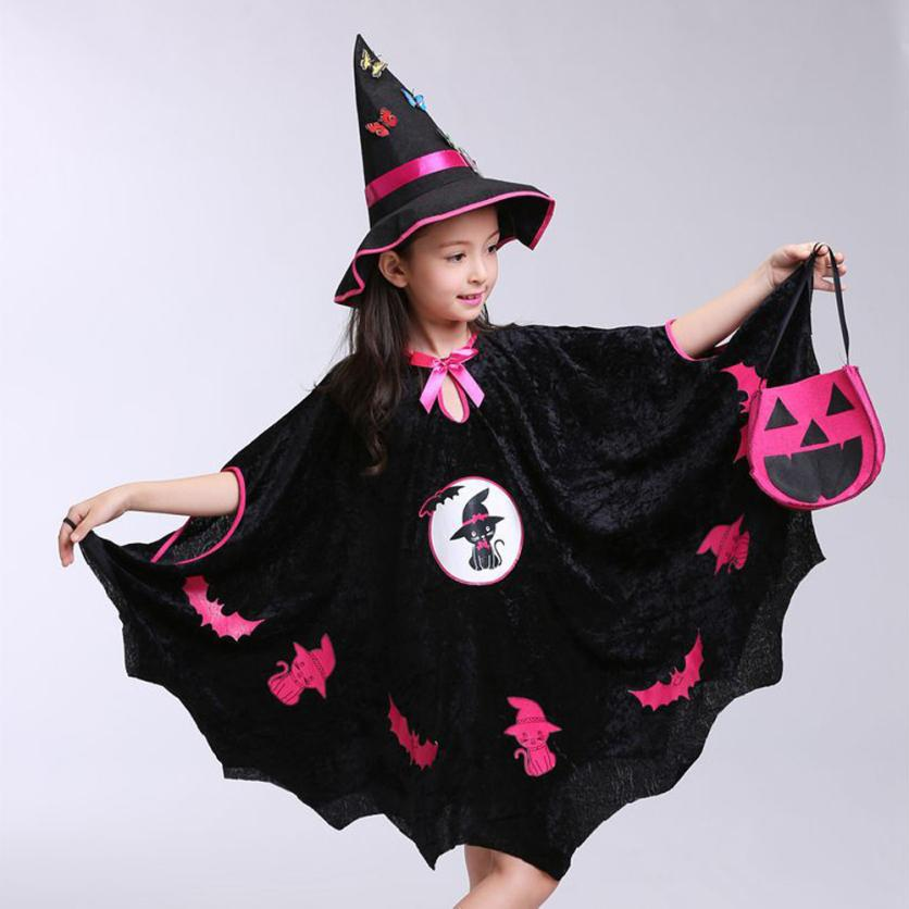 Child Baby Halloween Girls Clothes For Children Cloak+Hat Outfit+Pumpkin Bag Outfits Sets Halloween Party Decoration Decora OChild Baby Halloween Girls Clothes For Children Cloak+Hat Outfit+Pumpkin Bag Outfits Sets Halloween Party Decoration Decora O