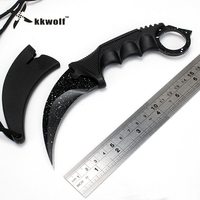KKWOLF Karambit Knife Csgo Tactical Knife CS GO Counter Strike Knives Real Game Claw Faca Camping