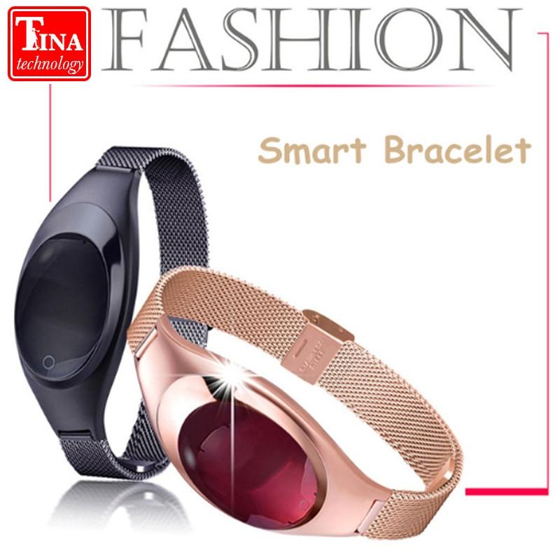 Mode Z18 Femmes Smart bracelet Étanche Bluetooth Smart Bracelet Coeur de La Pression Artérielle Taux Fitness Moniteur Podomètre