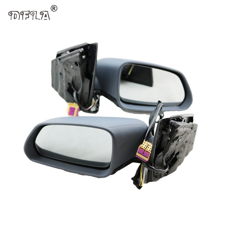 2pcs For VW Polo 2005 2006 2007 2008 2009 2010 Car-Styling Heated Electric Wing Side Rear Mirror aftermarket free shipping motorcycle parts eliminator tidy tail for 2006 2007 2008 fz6 fazer 2007 2008b lack