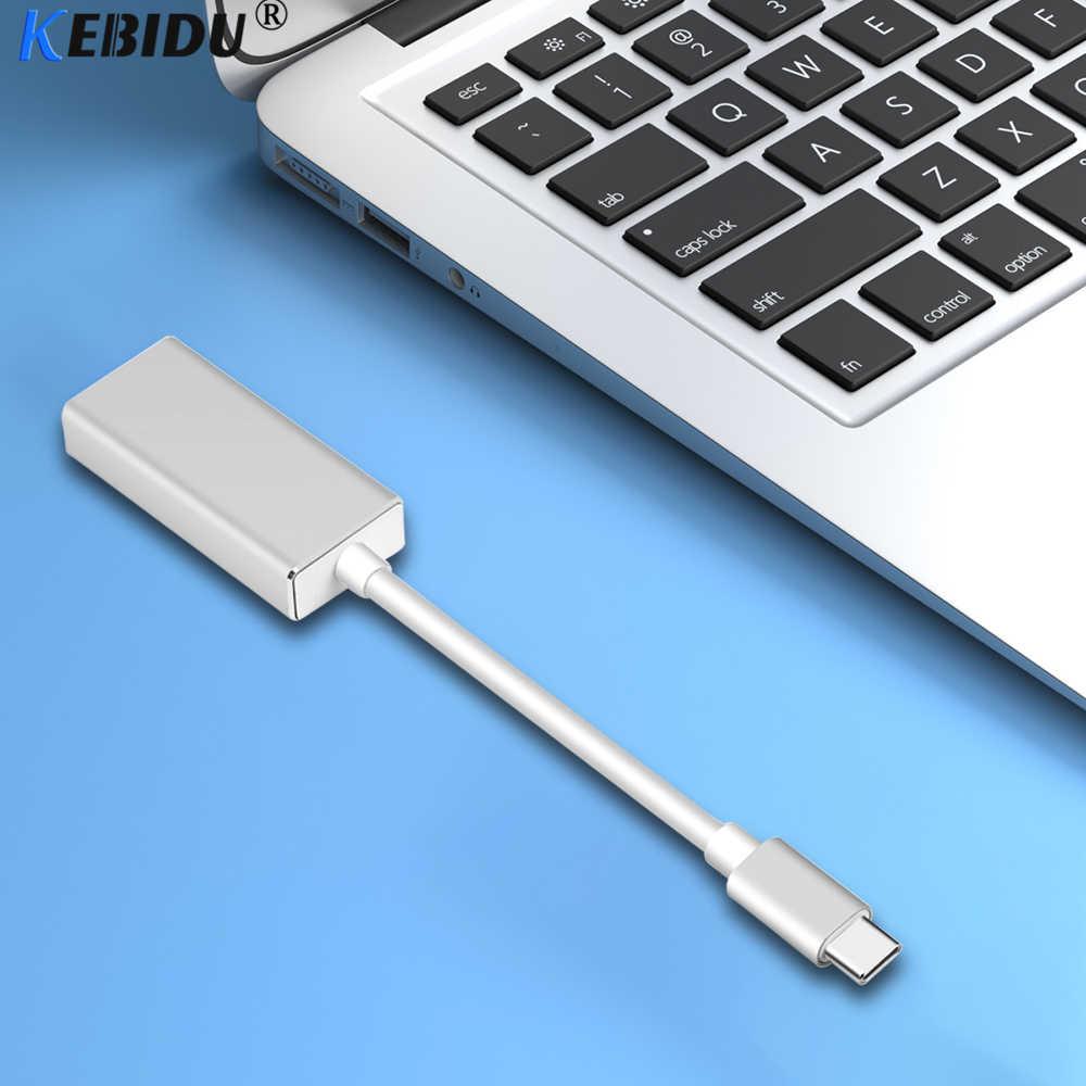 KEBIDU USB C a mini DisplayPort Adattatore USB 3.1 di Tipo C a mini DP ALL'ADATTATORE del convertitore di Supporto 4 K UHD 1080 P per Macbook Pro 2016