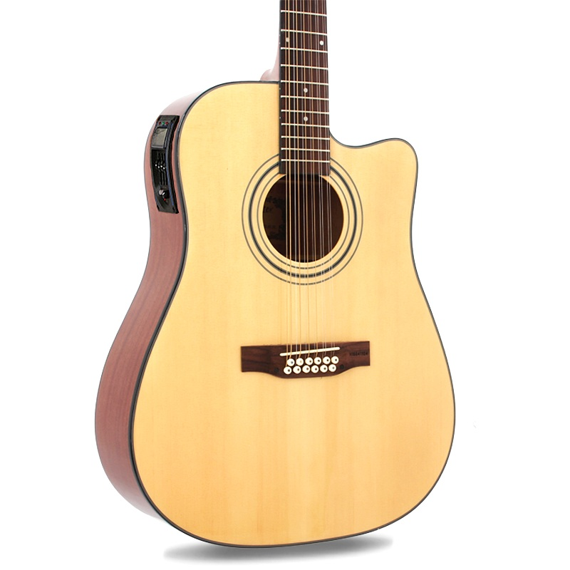 12 strings 41-inch acoustic guitar wooden guitar with pick up professional beginner folk guitar 12-string pickup parts wood 38 inch folk guitar to send full color gifts string linden wood guitar six strings with free shipping
