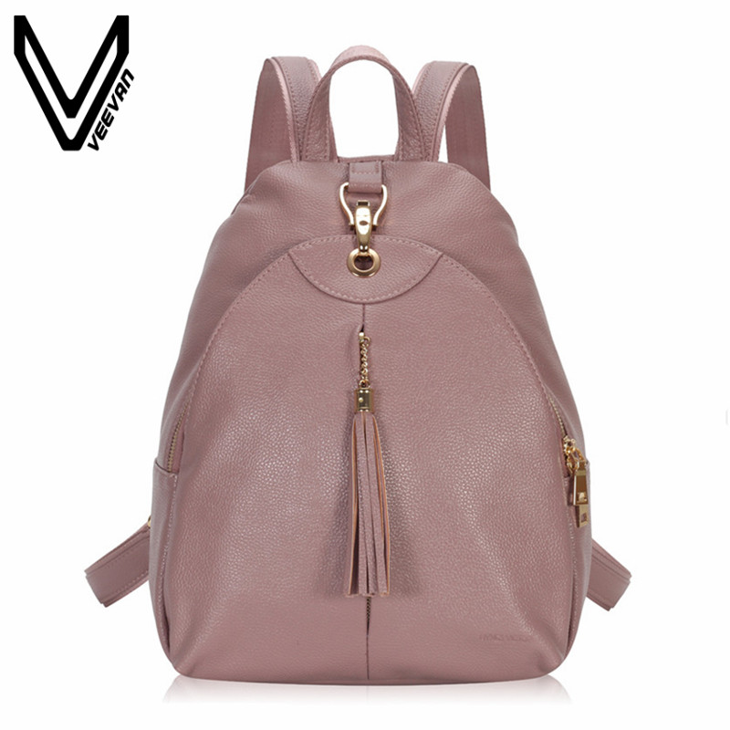 VEEVANV Brand Women Backpacks Female Fashion Travel Bag New Designer Leather Shoulder Bags Girls School Backpacks Casual Mochila цена