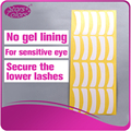 100 пар Ультра тонкий белый бумаги патч глаз для наращивания ресниц
