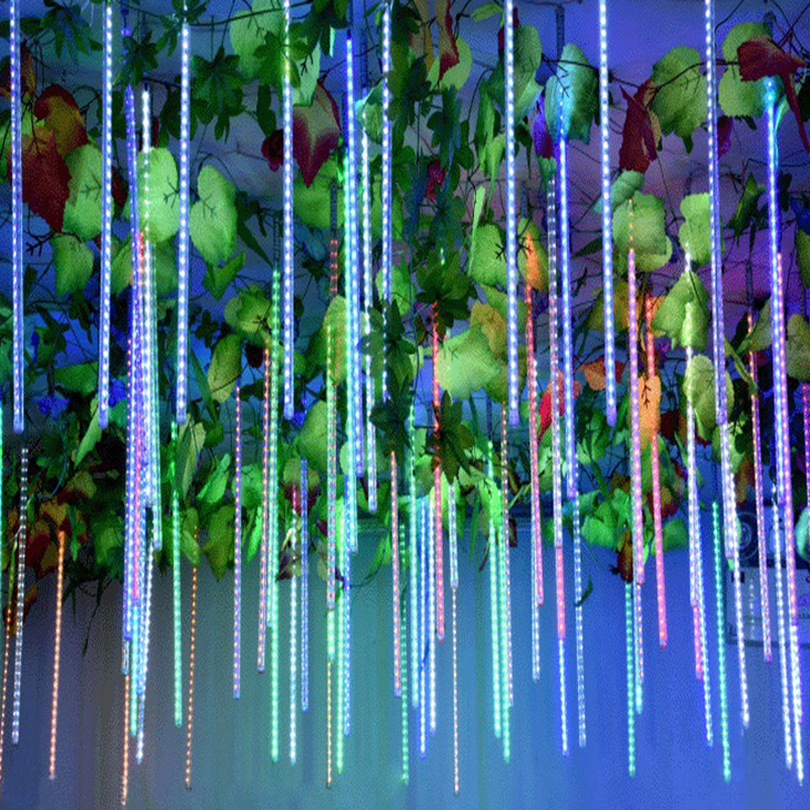 Holiday Meteor Shower Rain LED String Lights For Indoor Outdoor Gardens Xmas Christimas Party Decor Tree christmas snowman hanging gift sock xmas tree party decor