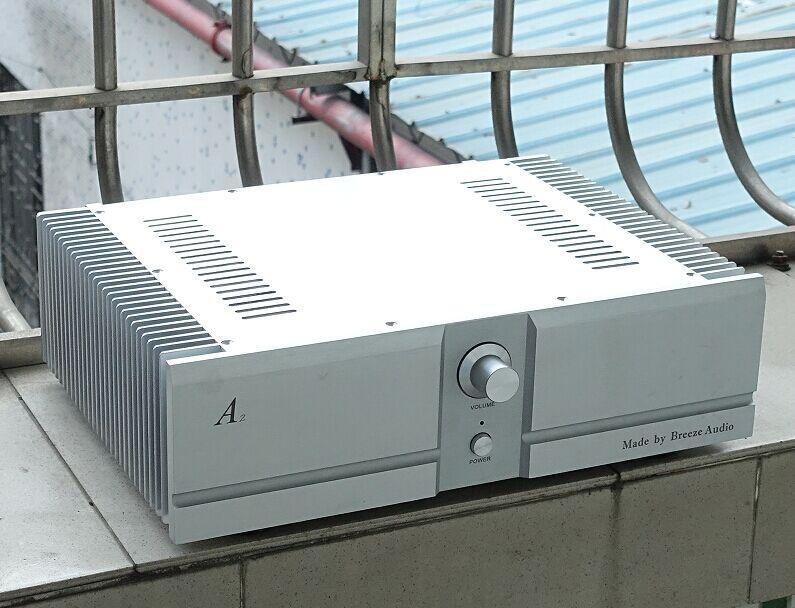BZ4312A argent tout aluminium 120mm hauteur amplificateur boîtier bricolage amplificateur de puissance châssis préamplificateur boîte Shell 430 MM * 120 MM * 310 MM