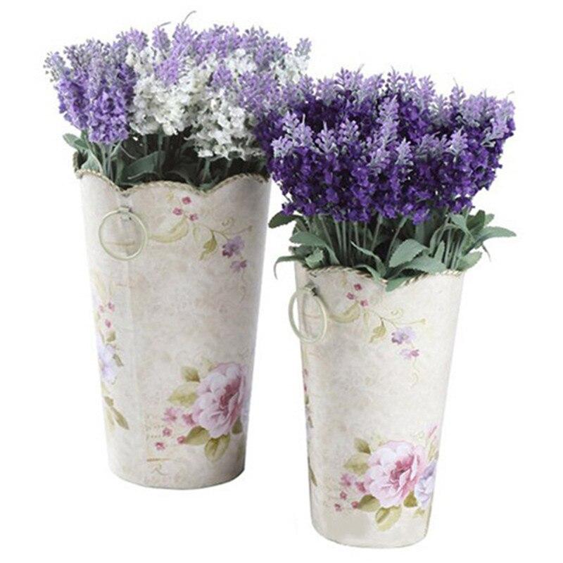Lavender Flower Hair Wedding Style: 10 Heads Artificial Lavender Silk Flower Bouquet Wedding