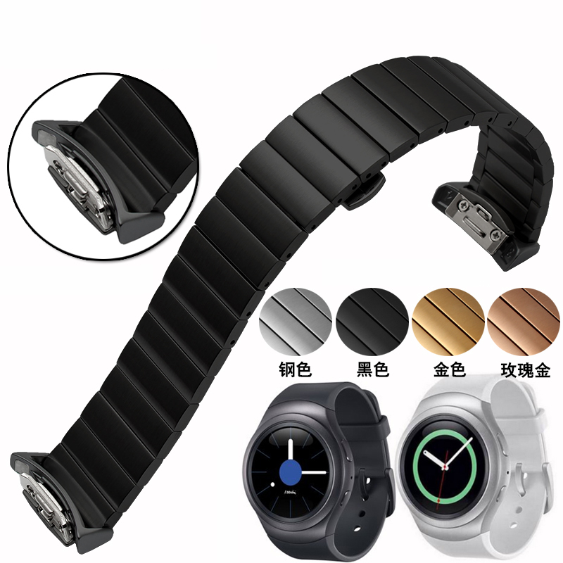 High-quality Samsung Galaxy Gear S2 smart watchband 20mm Stainless Steel Watch strap watch accessories смарт часы samsung gear s2 black
