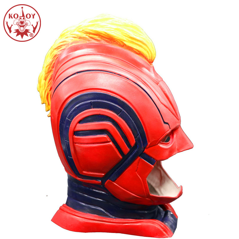 Movie Captain Marvel cosplay mask Halloween costume women female Silica Gel masks helmets for Adult Party cosplay Unisex