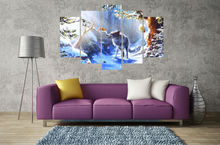 5 panel printed modular canvas painting animal poster canvas print art modern home decor wall art picture for living room F0152