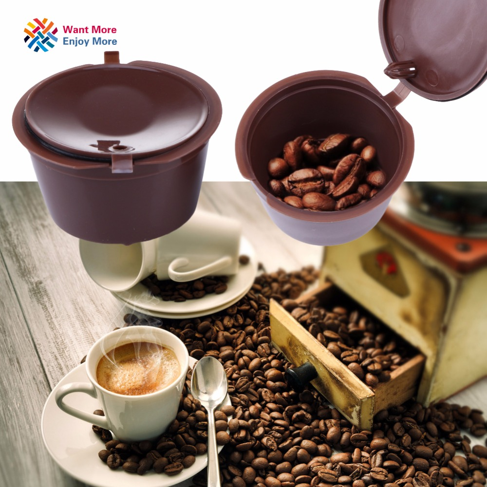 1pc Refillable Reusable Dolce Gusto coffee Capsule Refill Nescafe Capsules Reuse Dolce Gusto Pods Brewers Coffee Tea Cup