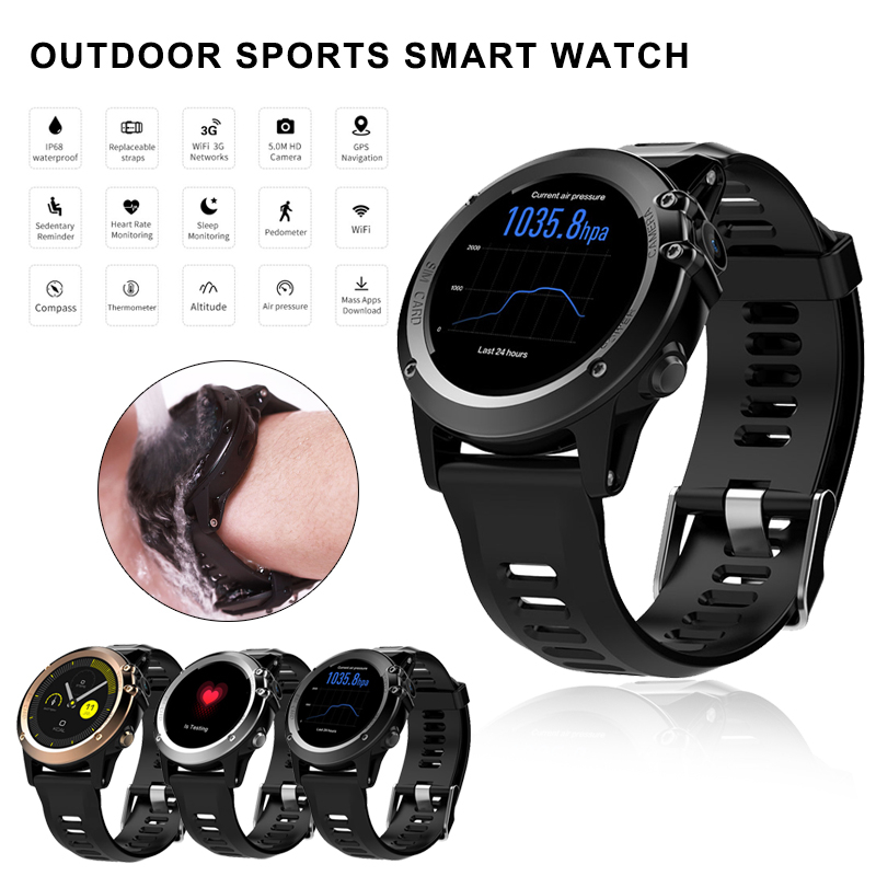 H1 Smart Watch Waterproof Men Watch 1.39inch 400*400 GPS WiFi 3G Heart Rate Monitor MTK6572 4GB+512MB Smartwatch For Android IOS все цены