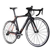 Ican leichte carbon straße ud oberfläche schwarz orange größe 50 cm 52 cm 54 cm 56 cm 58 cm Racing Fahrrad mit Günstigen Preis Auf verkauf