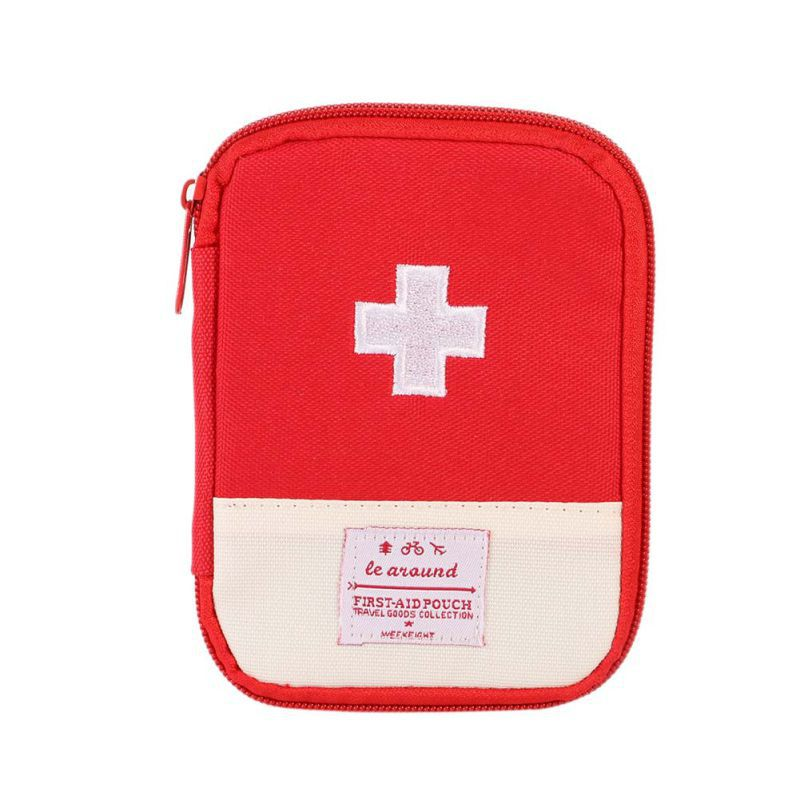 Mini Safe Outdoor Wilderness Survival Travel Första hjälpen Kit Camping Vandring Medical Emergency Bag 2 Colors
