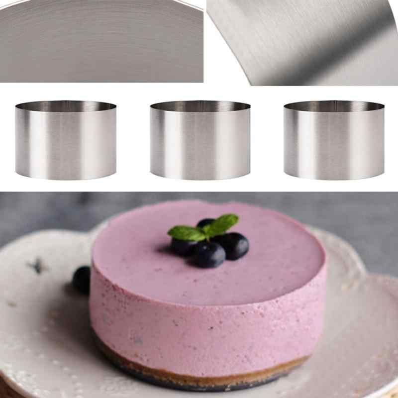 3pcs Professional Stainless Steel Cake Mould 8cm Baking Mold