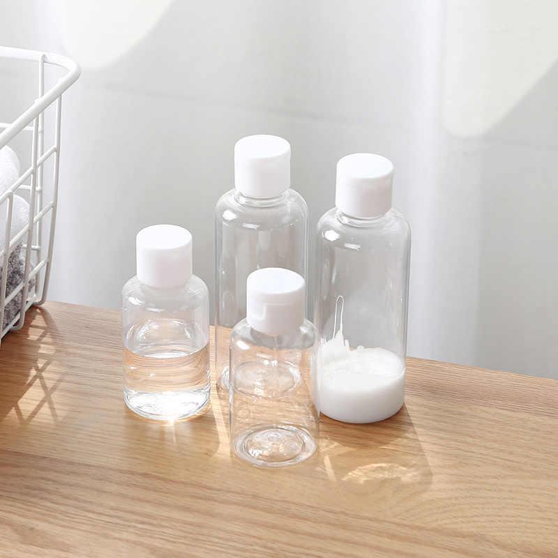 Hot Sales 100ml Transparent Bottle Lotion Jars Portable Travel Cosmetic Lotion Bottle Shampoo Moisture Bottle Shower Gel Bottle