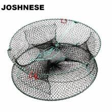 JOSHNESE 3 Hole Nylon Fishing Net Folded Portable Hexagon Fish Network Casting Nets Crayfish Shrimp Catcher Trap Cages