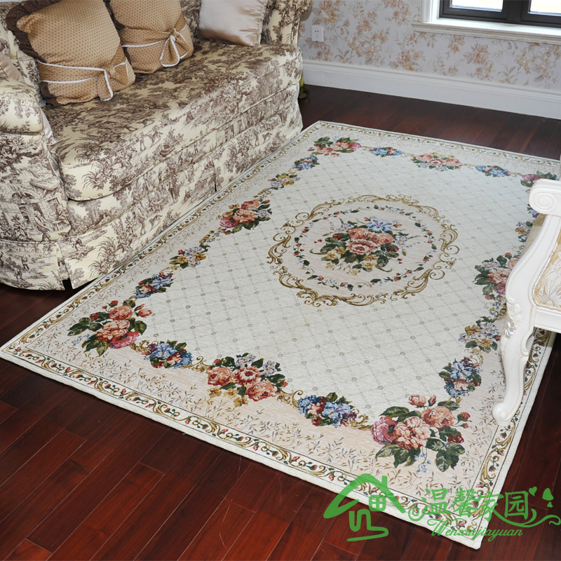 Fashion rose rustic living room coffee table carpet mats antibiotic slip-resistant carpet