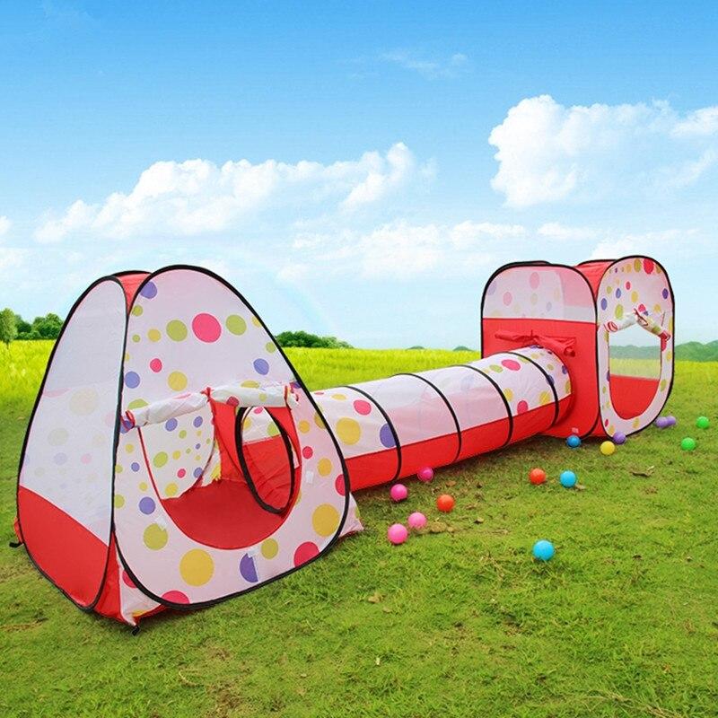 Cadeau enfant grande tente enfant avec tube tunnel trois-en-un jeu maison bébé enfants jouer tente, cadeau enfant ZP1003
