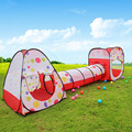 Child gift large child tent with tunnel tube three-in-one game house baby kids play tent,child gift ZP1003