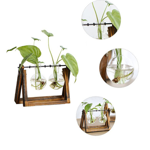 New Creative vase plant glass hydroponic container farm decorative flowerpot home decorations 1