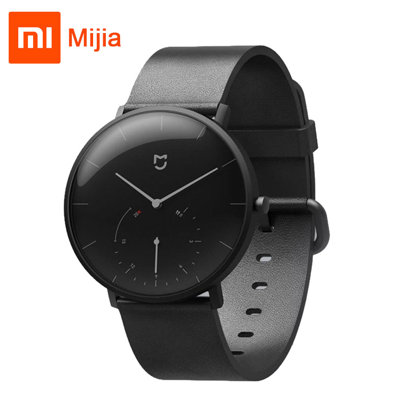 Xiaomi Mijia Quartz Smart watch 3ATM Water Resistant Call reminder Pedometer Stainless Steel Case Intelligent Vibration цены онлайн