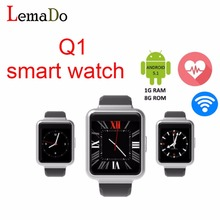Neue original Q1 smartwatch Quad Core 3G unterstützung Wifi bluetooth sim-karte Smartwatch pk KW88 lem1