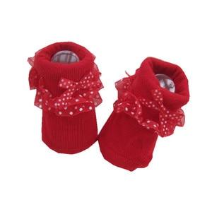 Lawadka Eine Größe Socke Baby Mädchen Rüschen Socken Neugeborenen Socken Herbst Winter Baby Mädchen Kleidung Zubehör 0-12Month