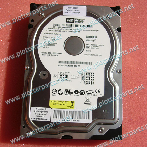 C6090-69324 C6090-60287 with Firmware IDE Hard Drive HDD for HP DesignJet 5000 40G Plotter Part C6090-69344 C6090-60219
