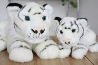 Knuffeldier 25 cm liggen tijger knuffel witte tijger pop gift k3497
