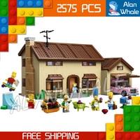 2575 шт. Семья Симпсонов дом праздник хобби Строительство 16005 DIY Рисунок здания Конструкторы детская игрушка Совместимость с LegoING