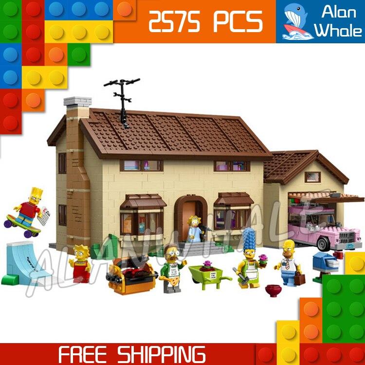2575 шт. Семья Симпсонов дом праздник хобби Строительство 16005 DIY фигурка Строительные блоки Детская Игрушка совместима с LegoING