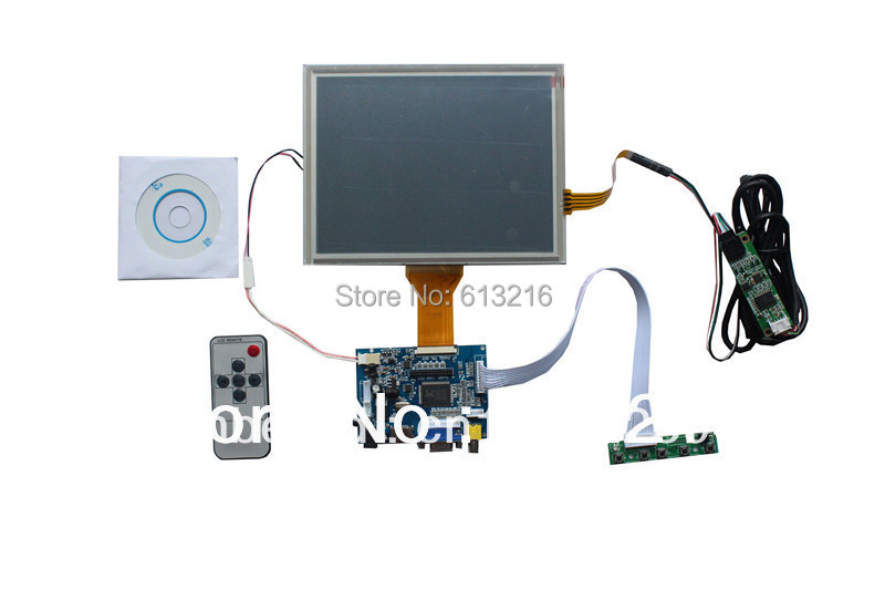 HDMI+VGA +AV of LCD driver board+ EJ080NA-05A 800*600+Remote control and receiver +OSD keypad with cable+ touch panel vga 2av revering driver board 8inch 800 600 lcd panel ej080na 05b touch panel