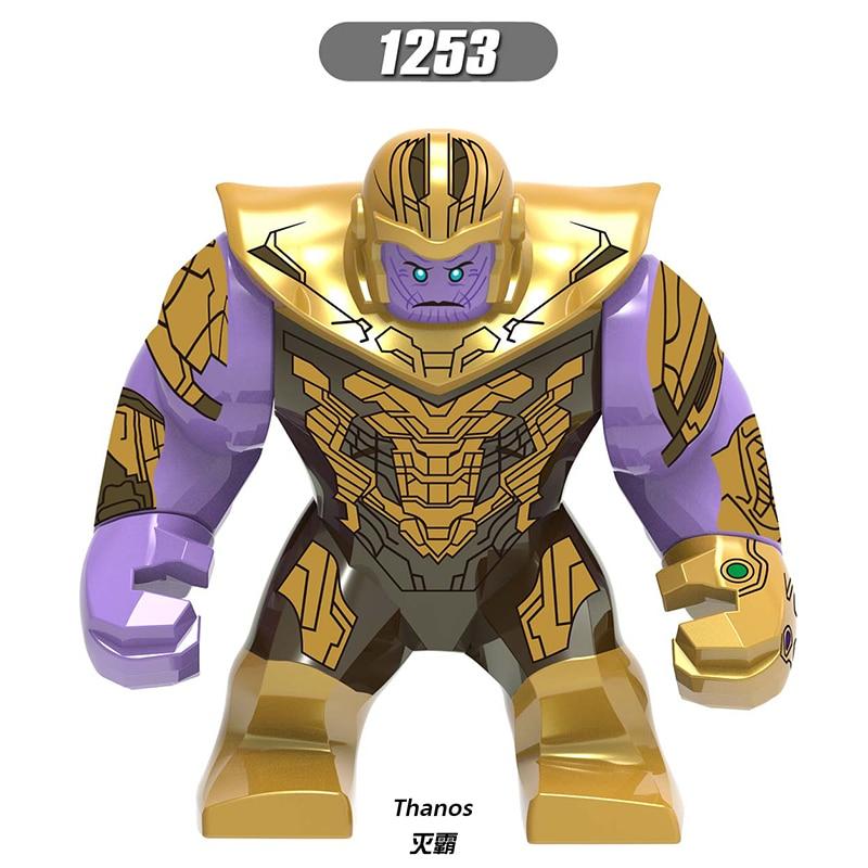 50 pcs Legoing Marvel Thanos Avengers Endgame figurines d'action infini gantelet puissance pierres gants blocs de construction jouets Xh1253