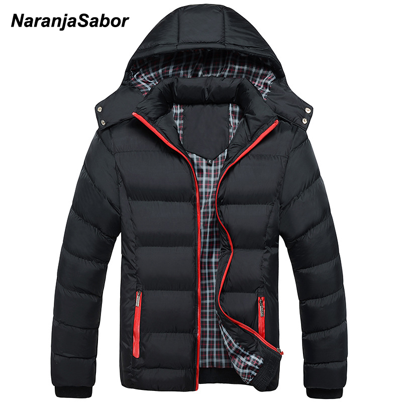 NaranjaSabor 2020 Winter Men's Thick Coats Hooded Parkas Mens Jackets Warm Breathable Coat Male Overcoat Mens Brand Clothing 5XL