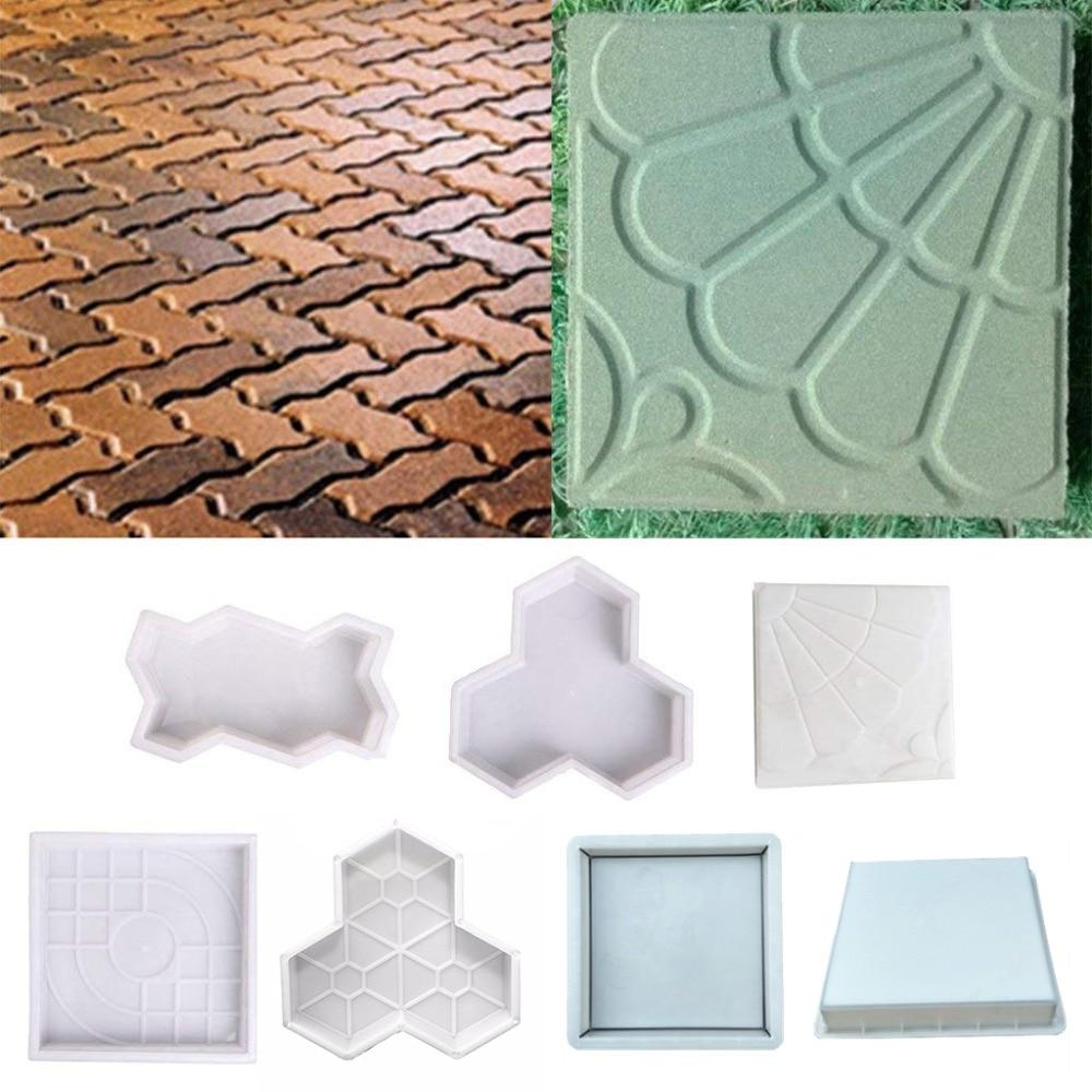 Beton Schimmel Bestrating DIY Plastic Path Maker Mold Bestrating Cement Baksteen De Stone Road Bestrating Moulds Tool Voor Tuin Decoratie