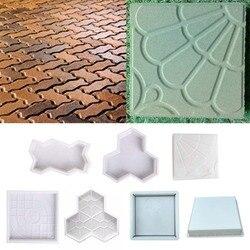 Molde concreto pavimento diy molde de plástico caminho fabricante molde pavimentação tijolo de cimento a pedra estrada pavimentação moldes ferramenta para a decoração do jardim