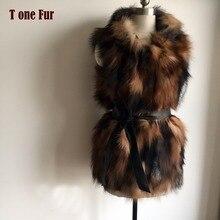 Жилет из чистого лисьего меха, капюшон, отделка из натурального меха лисы, жилет с капюшоном, модный жилет для женщин, подходит к натуральному жилету KAH399
