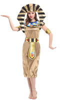 Halloween Egyptian Pharaoh Costumes For Performance Women Cleopatra Princess Cosplay Masquerade Party Clothes