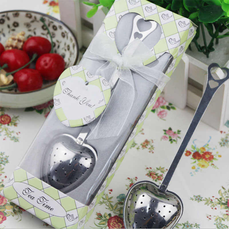 1pcs Tea infuser sample Wedding Souvenirs Green White Box Gift Wedding Favors and Gifts for Guest Party decoration