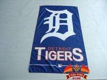 Detroit Tigers Flag 3×5 FT Banner 100D Polyester MLB Flag Brass Grommets