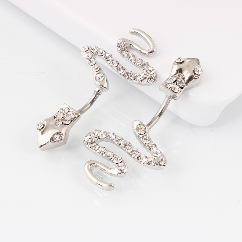 HTB1wwZxMXXXXXa3XXXXq6xXFXXXb Sterling Silver Belly Button Crystal Encrusted Serpent Ring For Women
