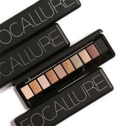 FOCALLURE Brand 10Color Smoky Glitter Eyes Pigments Eyeshadow Palette Cosmetics Waterproof Matte Nude Color Eye Shadow Make Up