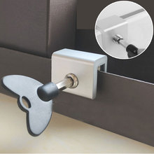 цена New child protection Door Window Lock Restrictor Aluminum Children Security Window Cable Limit Lock Safety Key Lock baby safety онлайн в 2017 году