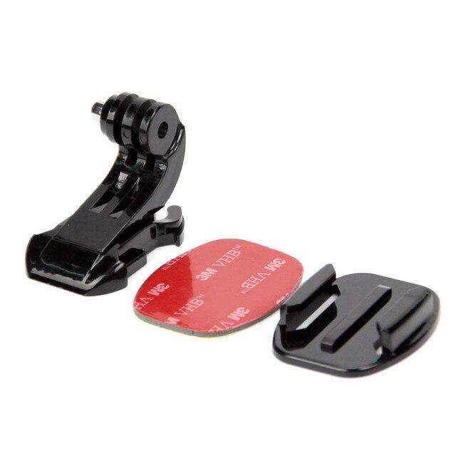 Para Go pro Acessórios J Gancho Buckle Titular + 3 M Adhesive Sticker + Flat Surface Mount Adaptador para GoPro Hero 4 3 + 2 1 SJ4000