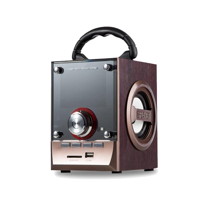 2018 חדש רמקול מיני נייד כרטיס אודיו מעץ - אודיו ווידאו נייד