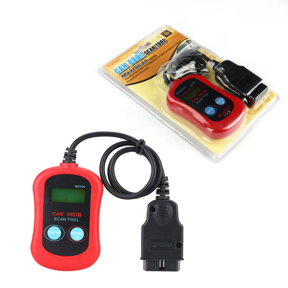 TAIHONGYU MS300 Engine Auto Car Diagnostic Scan Tool OBDII CAN Scanner Code Reader ...