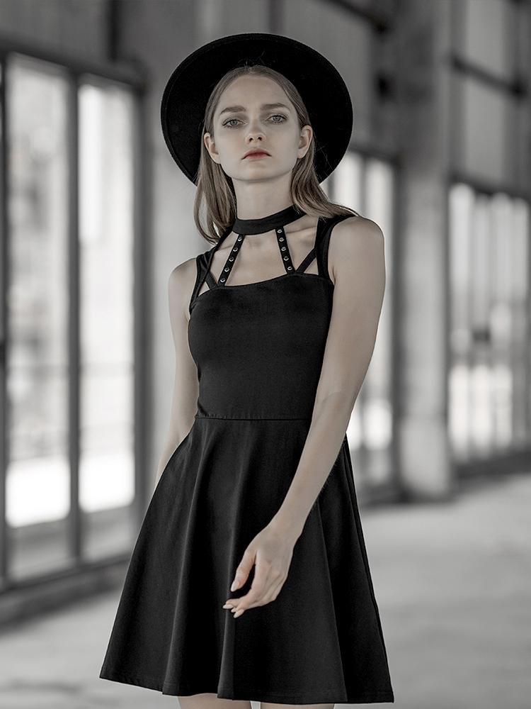 Punk Rave femmes Goth épaule froide balançoire robe PQ592LQ asie taille (S-L)
