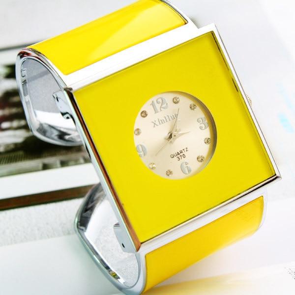 Brand XIRHUA Women's Fashion Square Dial Quartz Bangle Gift Watch For Ladies Fas