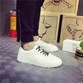 2017 Весной Новые Моды для Мужчин Плоские Мокасины Кожаные Ботинки Классические Ботинки Белый Черный